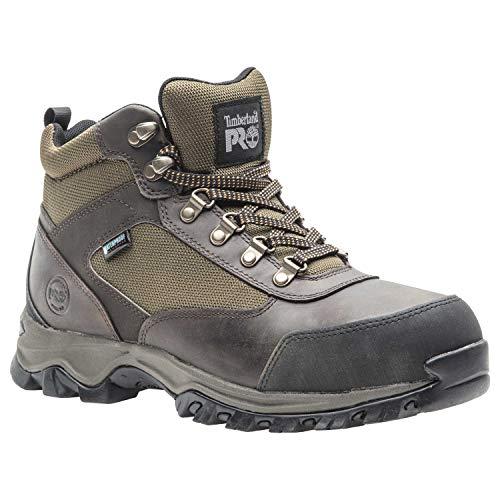 Timberland PRO Men's Keele Ridge Steel Toe Waterproof Industrial Boot, Brown, 9.5 M US