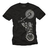 MAKAYA Ropa de Moto Hombre - Camiseta Negra XXL