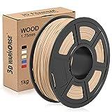 Wood PLA Filament, 1.75mm 3D Printer Filament, Wood 3D Printing...