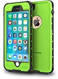 ImpactStrong iPhone 6 Waterproof Case [Fingerprint ID Compatible] Slim Full Body Protection Cover for Apple iPhone 6 / 6s (4.7') - Lime Green