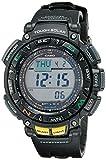 Casio Men's Pro Trek Stainless Steel Quartz Watch with Resin Strap, Black, 18 (Model: PAG240-1CR)