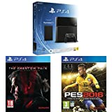 Contenu : Console PS4 500 Go Noire + Playstation TV + voucher Metal Gear Solid V : The Phantom Pain PES 2016 : Pro Evolution Soccer
