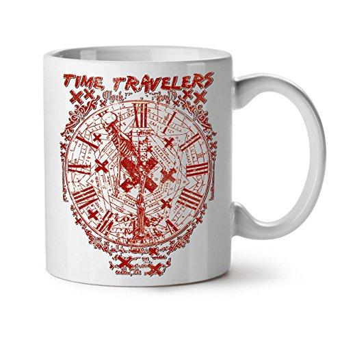 Wellcoda Temps Les Voyageurs Ancien Mug en céramique, clocking Tasse -...