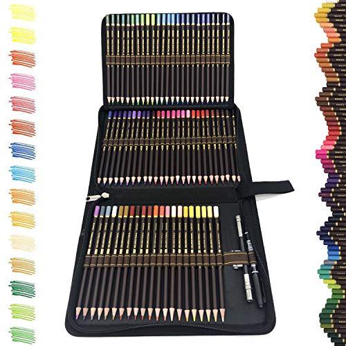 Matite Colorate Professionali da Disegno,migliori matite colorate kit da disegno,72 matite Colorate in astuccio portapenne grande capacit-Astuccio di Pastelli Colorati Professionali Adulti e Bambini