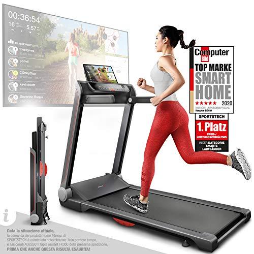 Sportstech Tapis Roulant Ultra Sottile FX300 -Marchio di qualit Tedesco- con Eventi Video e...