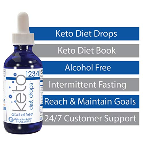 1234 Keto Diet Drops Weight Loss for Women & Men - 3X Keto Complex - Intermittent Fasting Book & Ketogenic Weight Loss Plan by Creative Bioscience, 2 Fl Oz (4 Count) 7