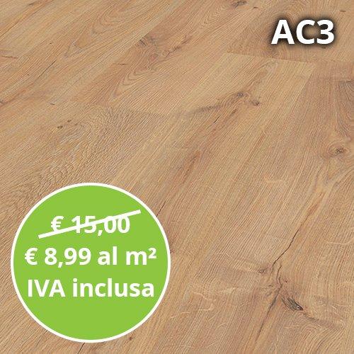 Pavimento in Laminato Rovere Baronale Confezione Da 2.47 Mq | AC3