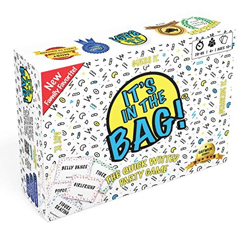 It's in The Bag! – Party Game Will Have You Laughing Hysterically – Like Charades on Steroids for Family and Adults – Easy to Learn Team Game for Groups (Family Edition)