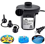 Electric Air Pump for Inflatables, ONG NAMO Quick Air Pump with 3 Nozzles for Air Mattresses Beds Boats Swimming Ring Inflatable Pool Toys 110V AC (130W)