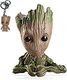 Udream Baby Groot Maceta - Maravillosa Figura de accin de Guardians of The Galaxy para Plantas y bolgrafos - Perfecto como Regalo(Forma de corazn)