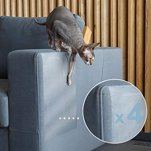 PROTECTO Cat Proof Couch Protector & Scratching Furniture Guard w/Sofa Safe Design & Grip-Tight Adhesive - Effective Sofa Leg & Corner Scratch Deterrent & Repellant