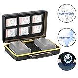 Étui pour Cartes Mémoire SD Adapté pour 6 Cartes SD et 2 Batterie Canon LP-E6 LP-E8 LP-E12 LP-E17...