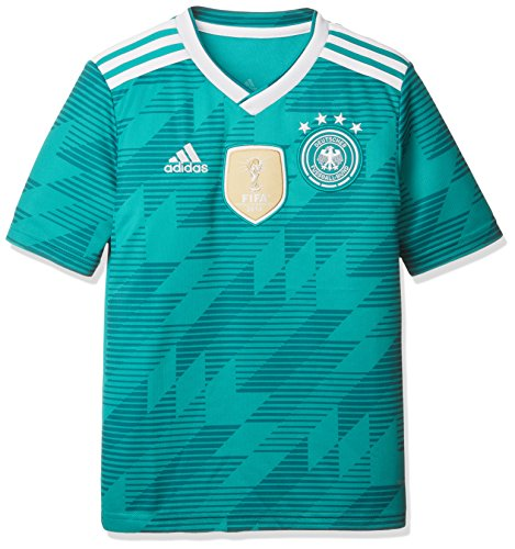 adidas Kinder Dfb Away Jersey 2018 Trikot, grün (eqt green s16/White/Real teal s10), 152