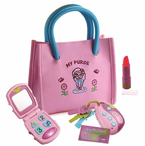 Dress Up America 4102k Kinder Playkidz Meine erste Geldbörse-Pretend Play Prinzessin Set für Mädchen mit Handtasche, Rosa, Einheitsgröße