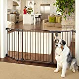 MYPET North States 72' Extra-Wide Windsor Arch Gate: Provides safety in extra-wide spaces. Hardware Mount. Fits 38.3'-72' wide (30' tall, Matte Bronze)
