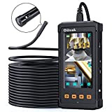 50FT Dual-Screen Borescope Camera[Latest], Oiiwak Dual Lens Endoscope for Industrial Sewer Pipe Drain Plumbing Inspection Camera Snake with Light IP68 Waterproof(15m)