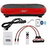 ZENY Fitness Vibration Plate Machine Vibrating Massager Whole Full Body Shaker Exercise Machine,Vibration Platform,Fit Massage Workout Trainer with Two Bands & Remote