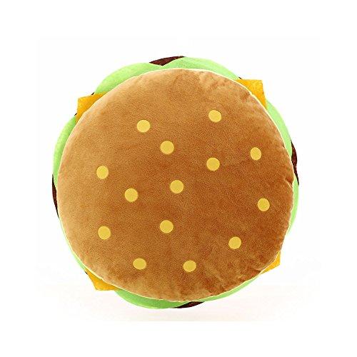 Kentop - Cuscino per sedia, simulazione creativa di hamburger, ideale per il divano