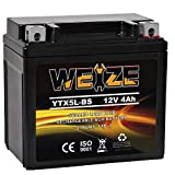 Weize YTX5L-BS High Performance - Maintenance Free - Sealed AGM Motorcycle CTX5L Battery compatible with Honda YUASA Yamaha ETX5L-BS Batteries