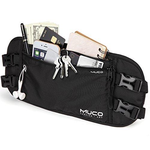 MUCO Ceinture de Voyage, Money Belt pour Passeports, Billets, Cartes de...
