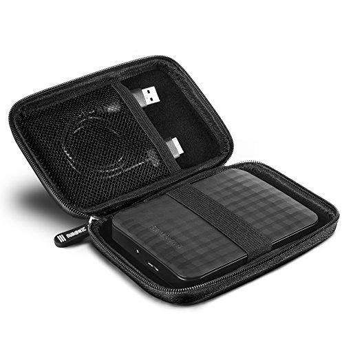 Duronic HDC2 Nero Custodia Hard Disk Esterno - Custodia in Alluminio Portatile per Hard Disk Esterno...