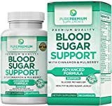 Premium Blood Sugar Support Supplement by PurePremium (Non-GMO) Support Glucose Metabolism and Cardiovascular Health