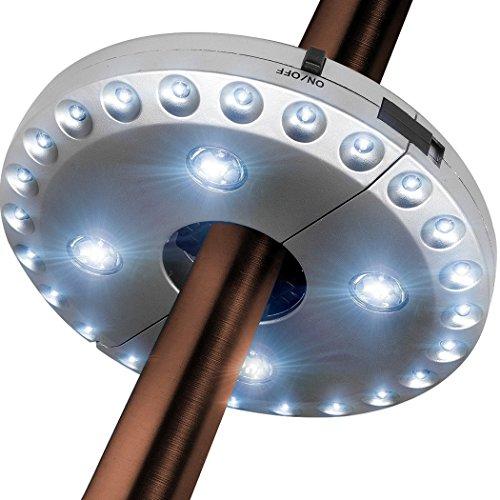 Txian Cordless 28 LED Ombrello Luci 3 Livello Dimmerabile Ombrellone Luce LED Ombrellone Patio Tende...