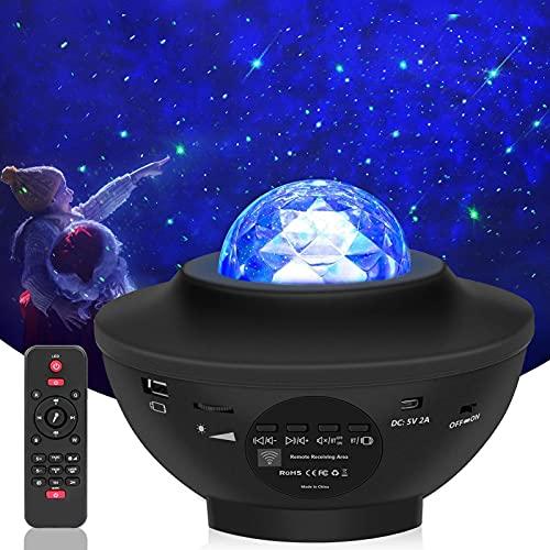 Lampada Proiettore Stelle, Luce Notturna Bambini con 21 Modalit, LED Lampada Musicale Romantica Cielo Stellato, con Telecomando, Timer, Altoparlante, Bluetooth, Regalo per Adulto, Bambini