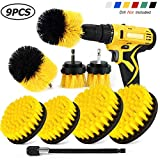 Sheildpro Drill Brush Attachment Set, Power Cleaning Scrub Brush ,All Purpose Drill Brushes With Extend Long Attachment For Bathroom And Kitchen Surface, Grout, Tub, Shower, Tile, Corners, Automotive