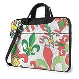 Estuche para computadora portátil, maletín navideño de Tela de Nueva Orleans, Bolso de 15,6 Pulgadas