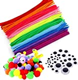 Pipe Cleaners Crafts Set, Fil chenille enfant, Fils chenille Loisirs Creatifs,...