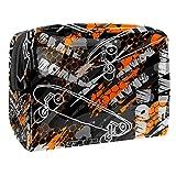 Bolsa de maquillaje portátil con cremallera bolsa de aseo de viaje para las mujeres práctico almacenamiento cosmético bolsa ropa deporte