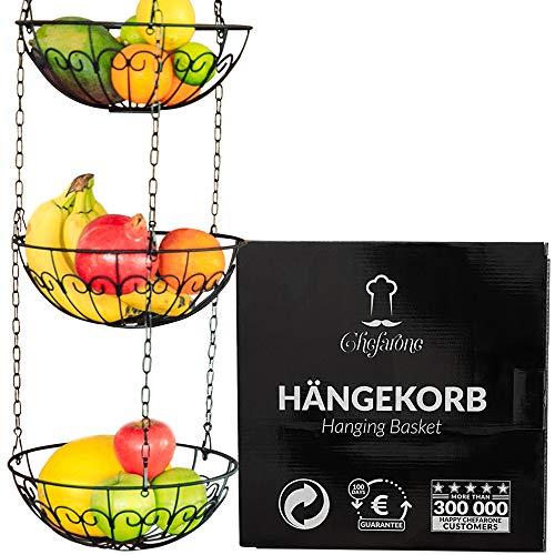 Chefarone Obstkorb zum Aufhängen - 130cm Küchenampel...