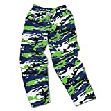 Officially licensed by the NFL High quality, screen print team logo Loose, comfortable fit with elastic waistband and drawstring closure Machine Wash Cold, Tumble Dry Low Since the 1980's, Zubaz has become known for it's adventurous design,high prod...
