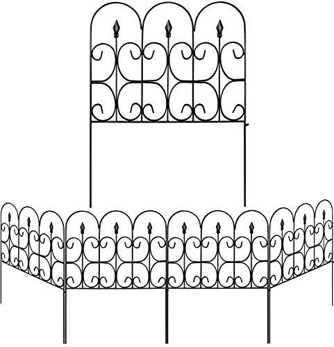 Amagabeli Decorative Garden Fence Outdoor Coated Metal Rustproof 32in...