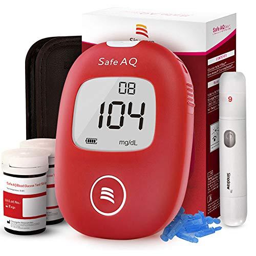 Diabete test kit glucosio nel sangue kit di test del sangue kit di monitoraggio dello zucchero con 50 strisce Codefree 50 lance Painfree dispositivo di lancio per i diabetici del Regno Unito-in mg/dL