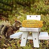 Hand-Mart Squirrel Feeder Large Picnic Table Feeder Corn Holder Chipmunk Feeder Tree Installation...
