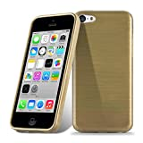 Cadorabo Coque pour Apple iPhone 5C en Or - Housse Protection Souple en Silicone...