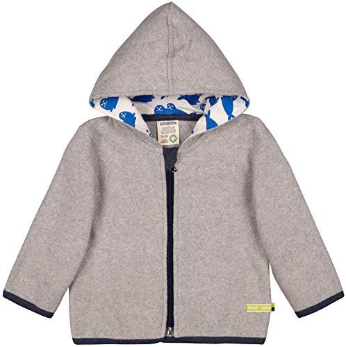loud + proud Unisex Baby Jacke Fleece Aus Bio Baumwolle, GOTS Zertifiziert Sweatjacke, Grau (Grey Gr), 80 (Herstellergröße: 74/80)