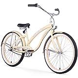 Firmstrong Bella Fashionista Single Speed Beach Cruiser Bicycle, 26-Inch, Vanilla