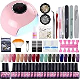 Saint-Acior Kit Manucure 24W UV/LED Lampe 20pc Vernis Gel Semi Permanent à...