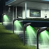 Solar Landscape Lights Outdoor 4 Pack 12 LED Flood Lamps Waterproof Solar Path Lights for Garden Patio Yard Driveway Walkway Landscape (7 Colors)