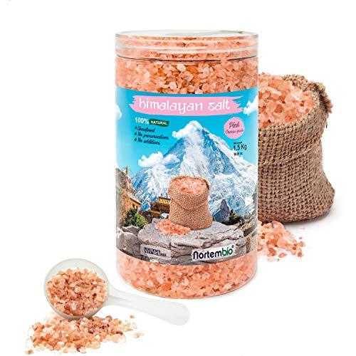 Nortembio Sal Rosa del Himalaya 1,5 Kg. Gruesa (2-5 mm). 100