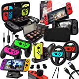ULTIMATE Switch Accessories Bundle: The Orzly Geek Pack includes everything you need to make the most of your Nintendo Switch console ESSENTIAL NINTENDO SWITCH ACCESSORIES: The pack includes basic accessories such as protective cases & screen protect...