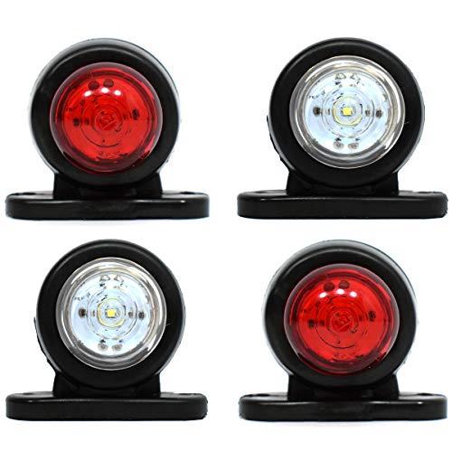 4 x 12 V bianco LED rosso posteriore luci laterali SUV, camion, rimorchi, bus, caravan Van