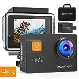 APEMAN Action Cam A80, 4K 20MP WiFi Impermeabile 40M 4XZoom Fotocamera Subacquea Digitale, Gyro Stabilizzazione con Correzione della Distorsione...