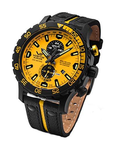 Vostok Europe Herrenuhr Everest Underground Multifunktion Chronograph Alarm Day Date Countdown Timer World Time 597C548