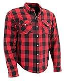 Milwaukee Performance Men's Checkered Flannel Biker Shirt With Aramid (Black/Red, 3X)
