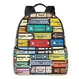 Mochilas Escolares Bolsa Daypack Mochila Tipo Casual para Niños Niñas para Portátiles Netbooks Trama de Maletas de Colores de Viaje