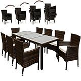 Deuba Poly Rattan Sitzgruppe 8 Stühle Stapelbar mit Tisch - 2